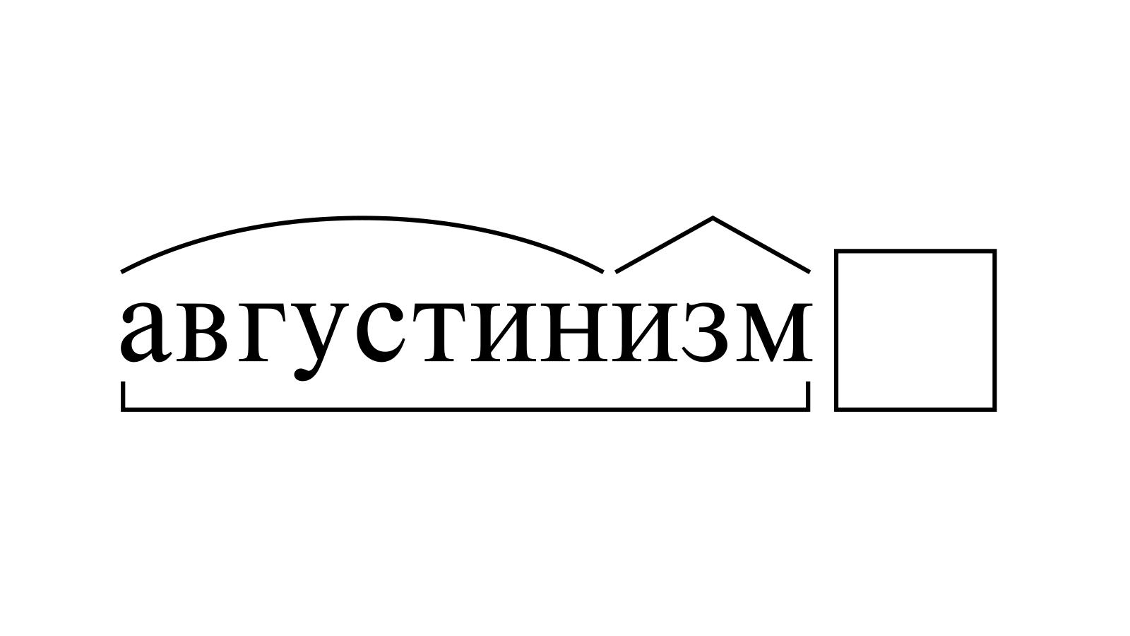 Разбор слова «августинизм» по составу