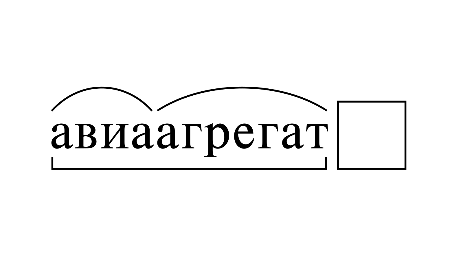 Разбор слова «авиаагрегат» по составу