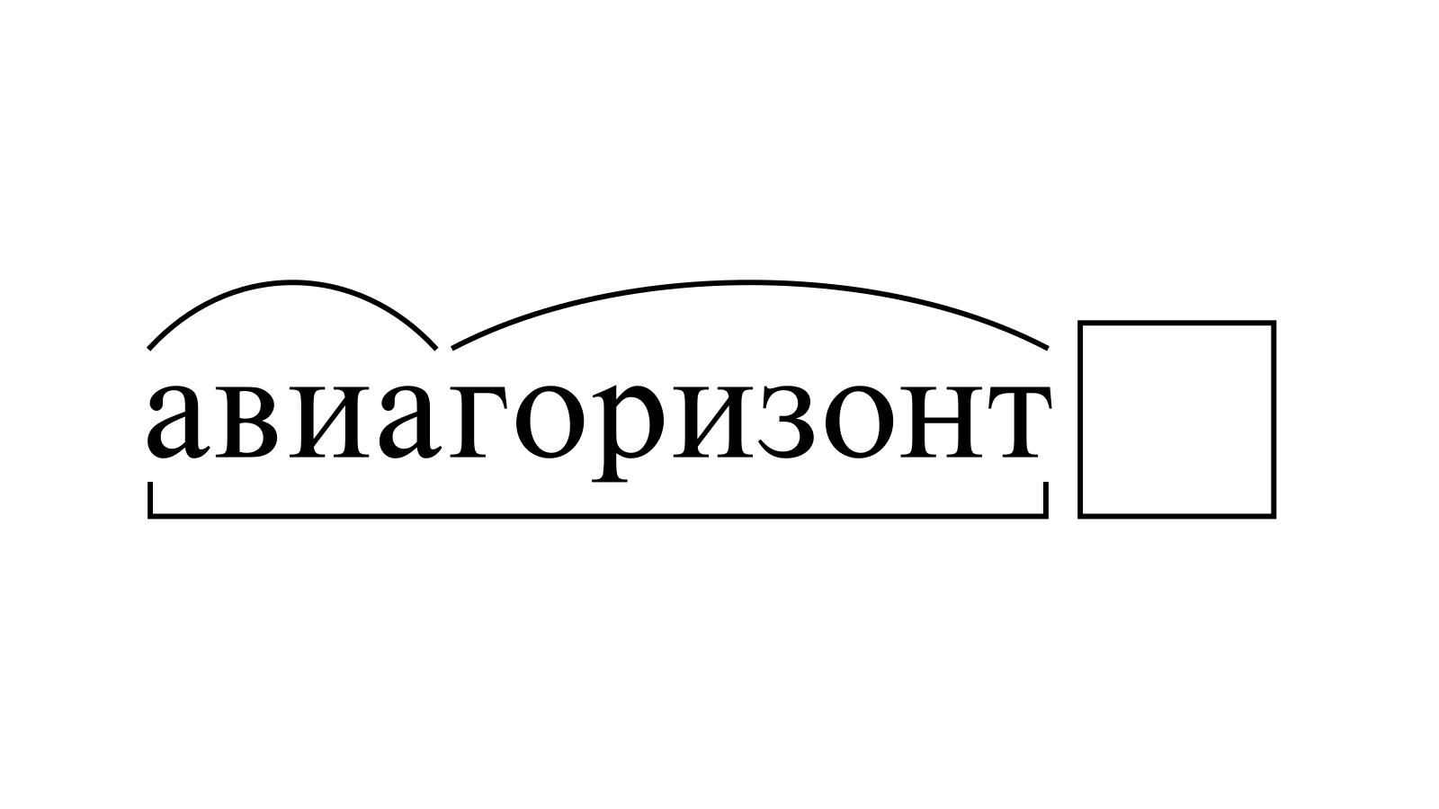 Разбор слова «авиагоризонт» по составу