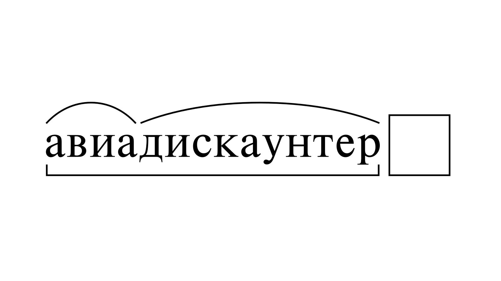 Разбор слова «авиадискаунтер» по составу