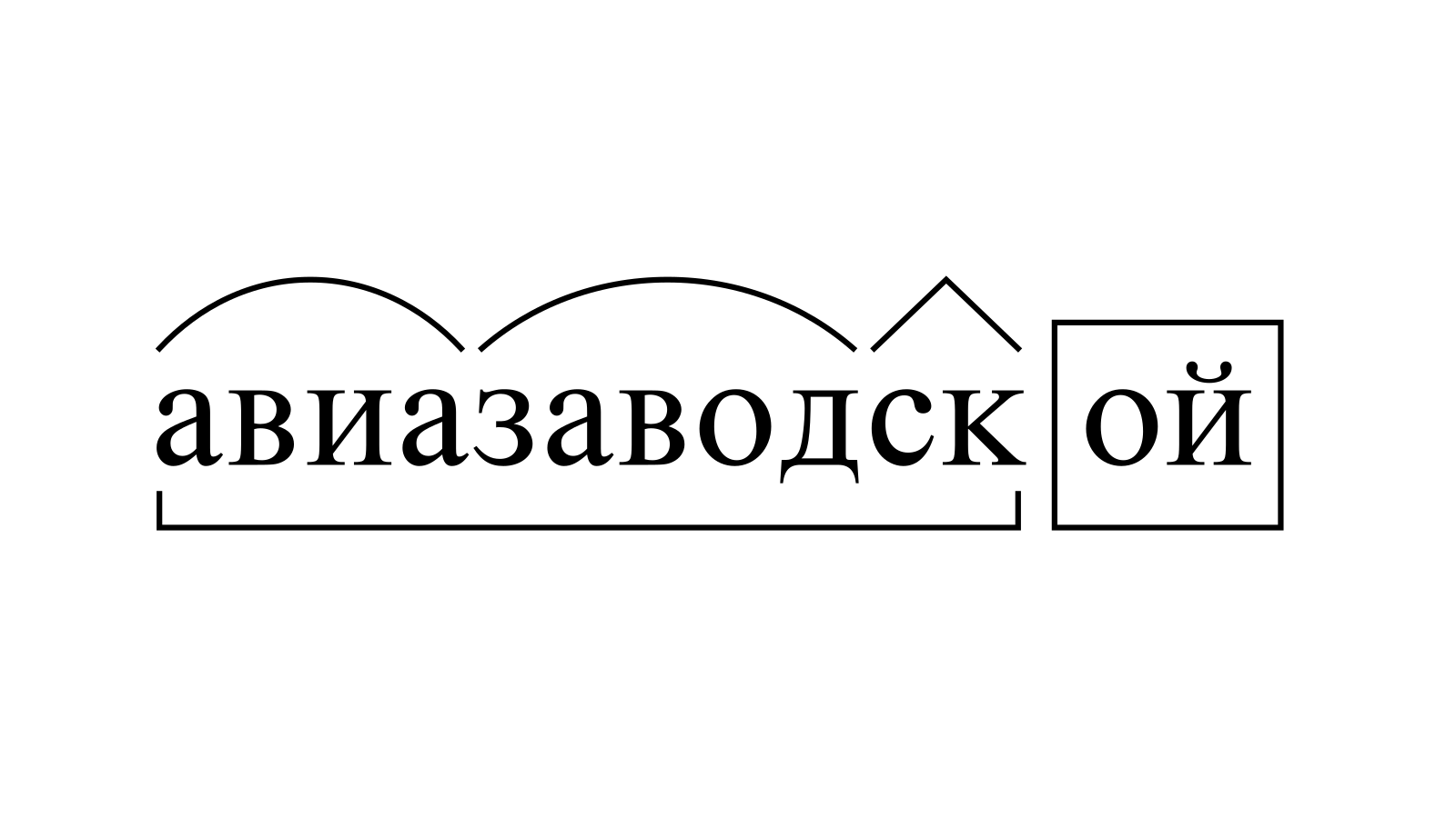 Разбор слова «авиазаводской» по составу