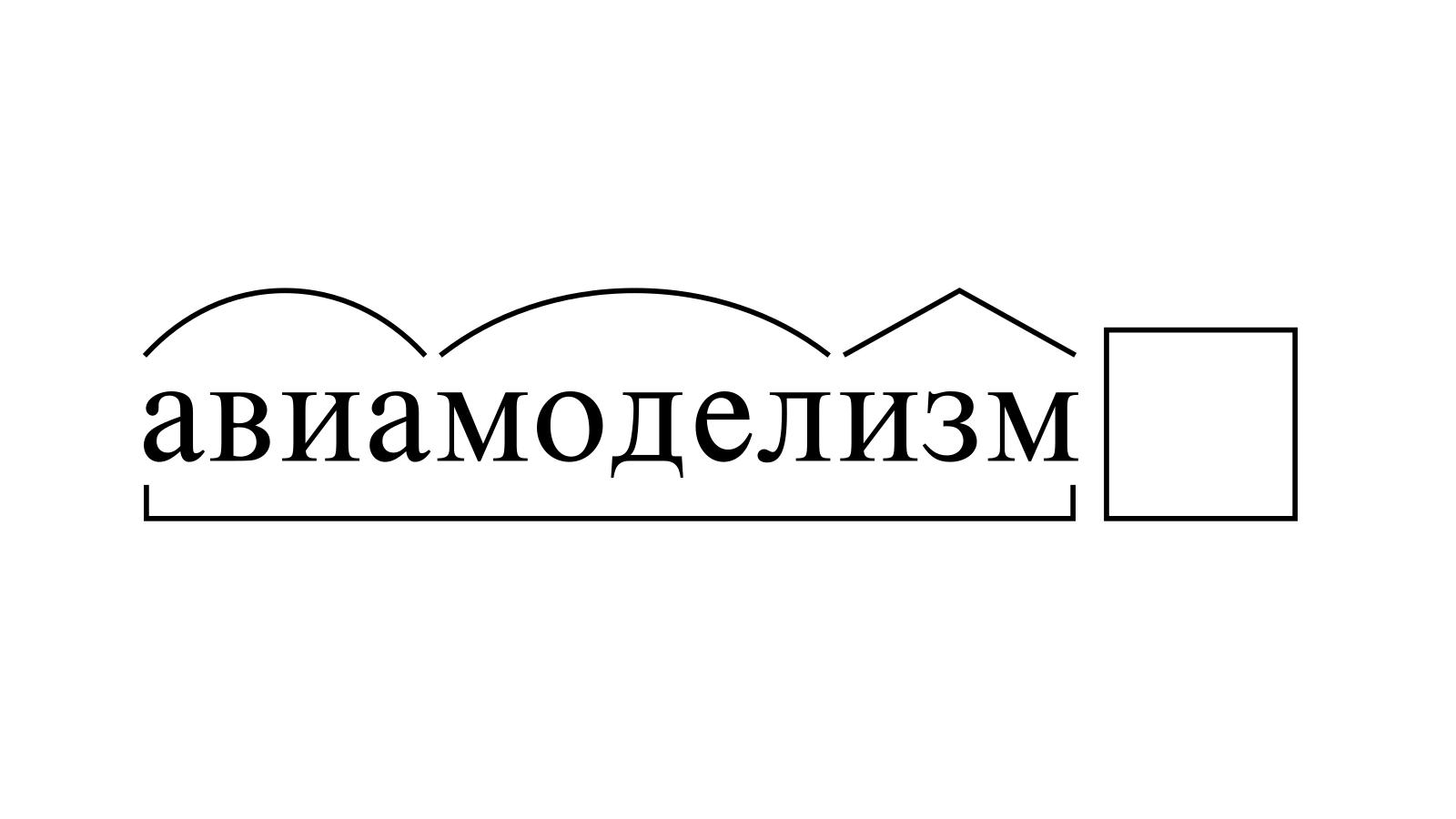 Разбор слова «авиамоделизм» по составу