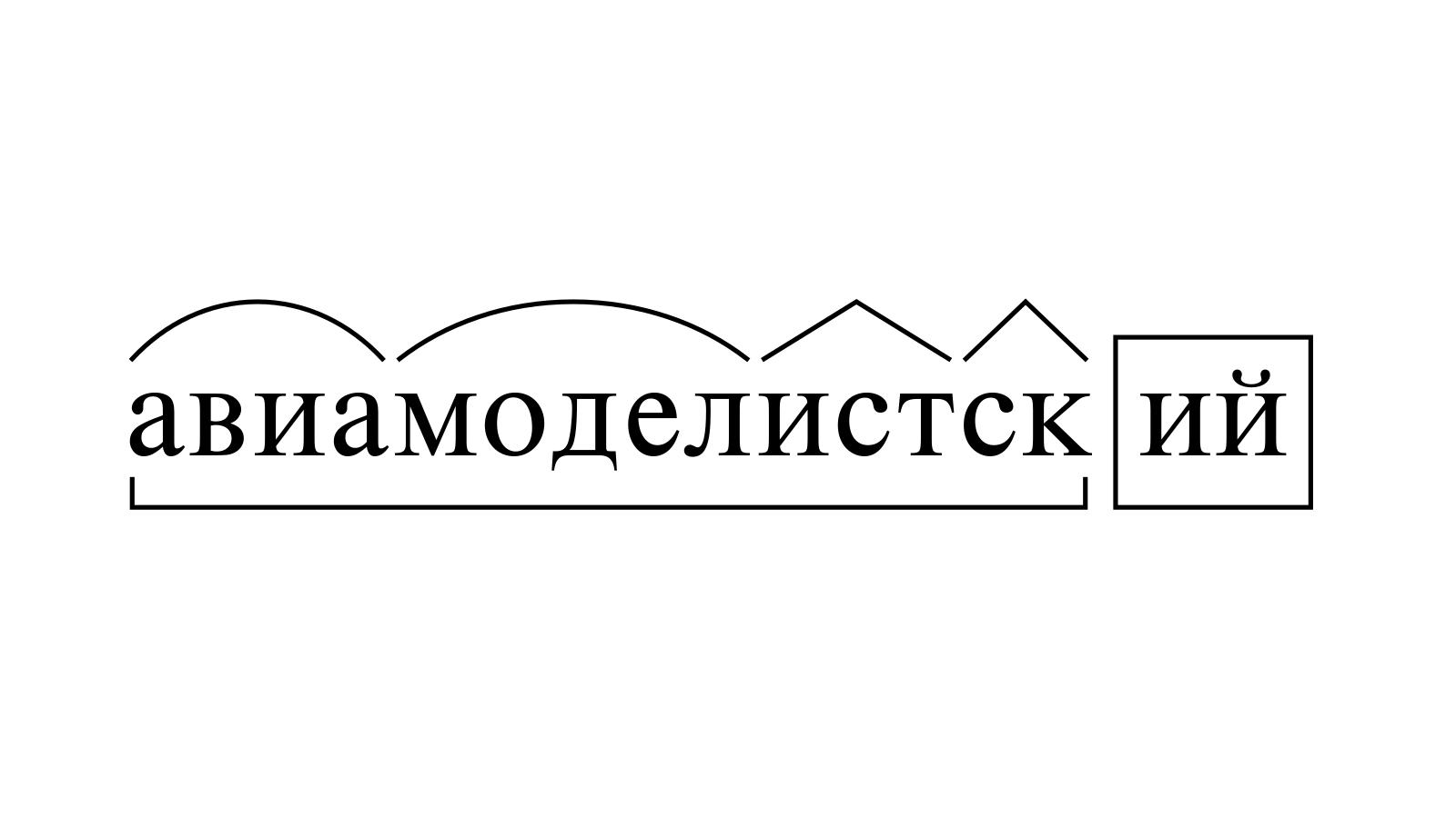 Разбор слова «авиамоделистский» по составу