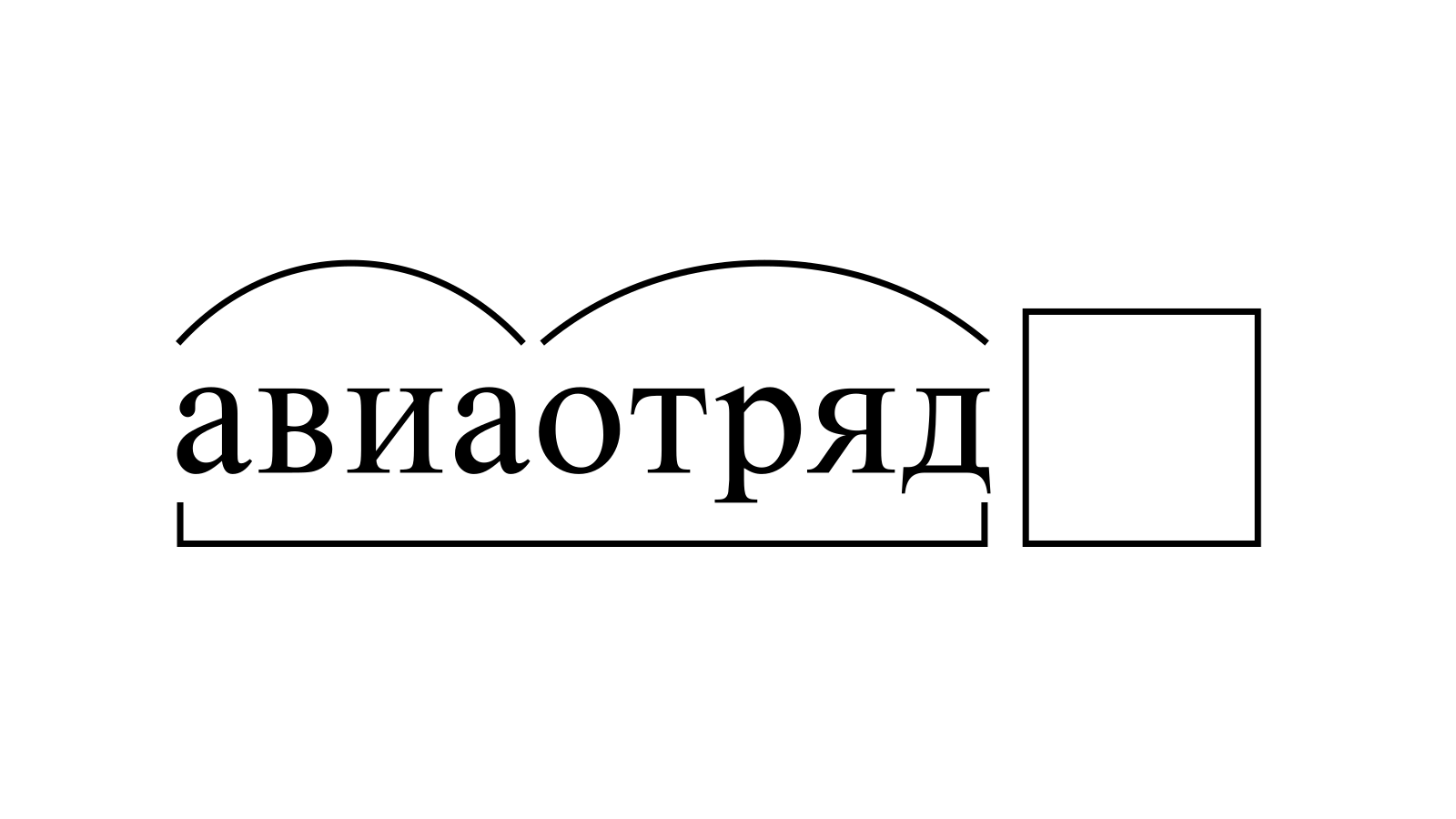 Разбор слова «авиаотряд» по составу