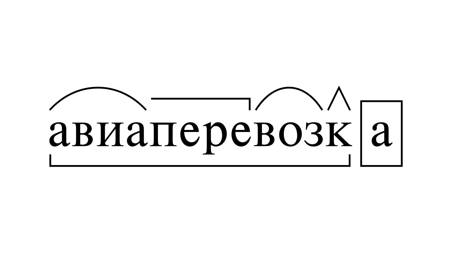 Разбор слова «авиаперевозка» по составу