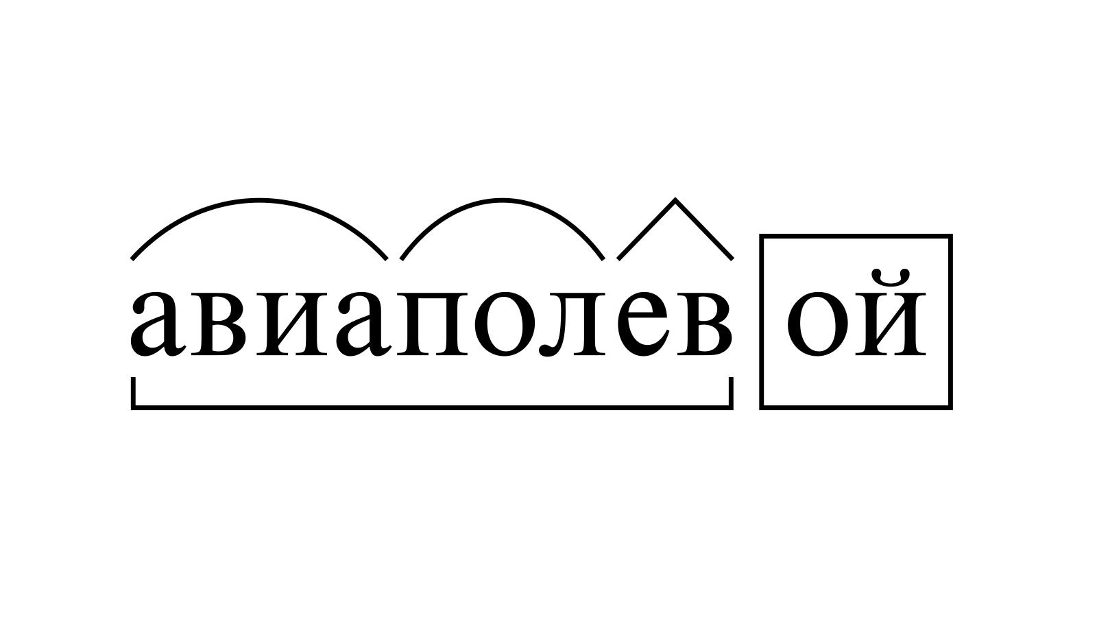 Разбор слова «авиаполевой» по составу
