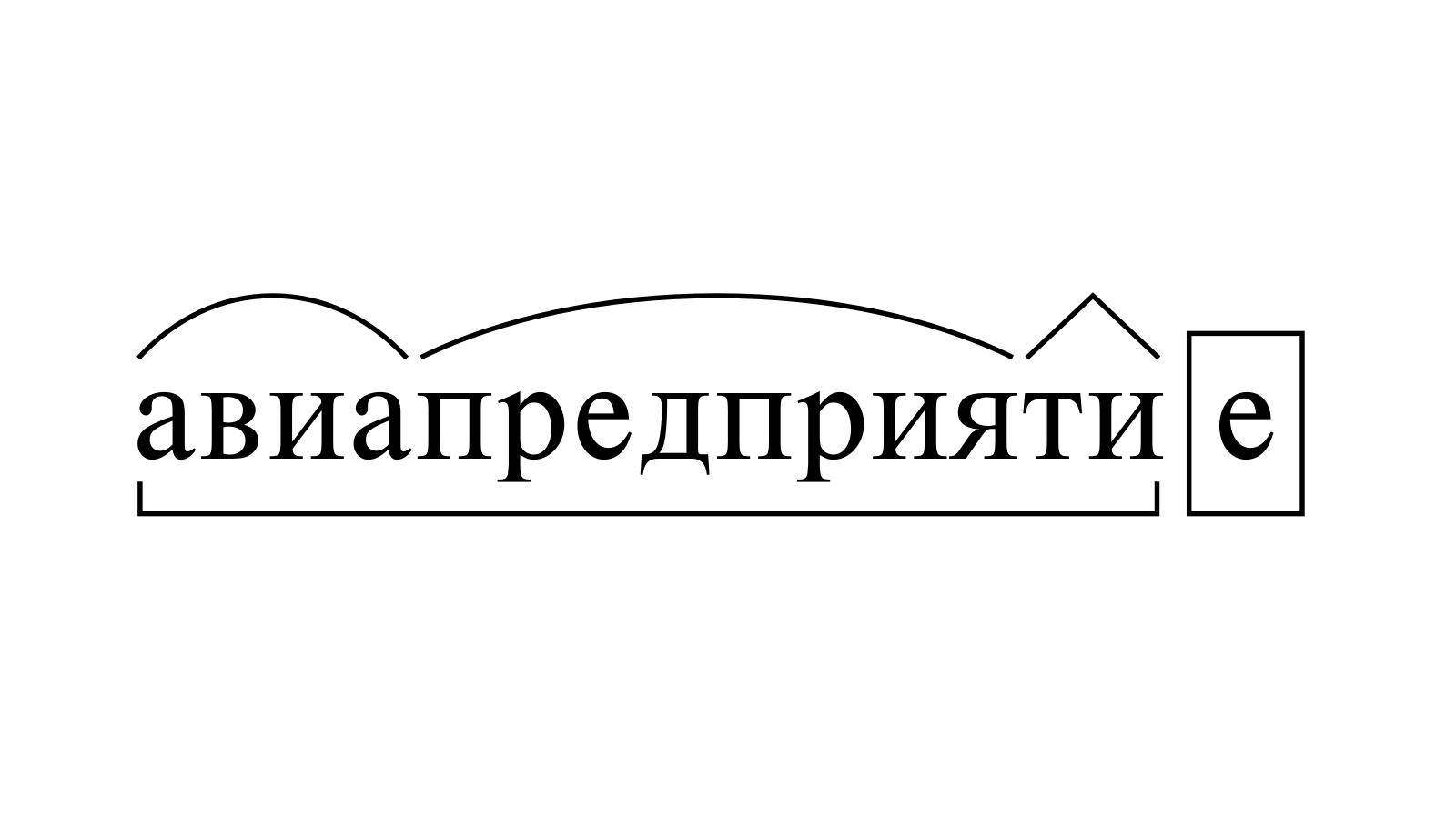 Разбор слова «авиапредприятие» по составу