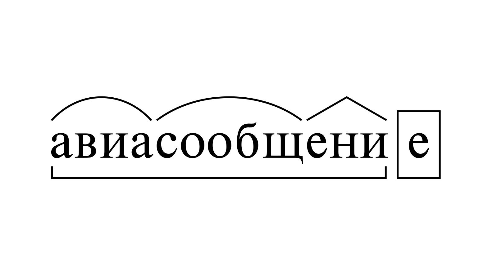 Разбор слова «авиасообщение» по составу