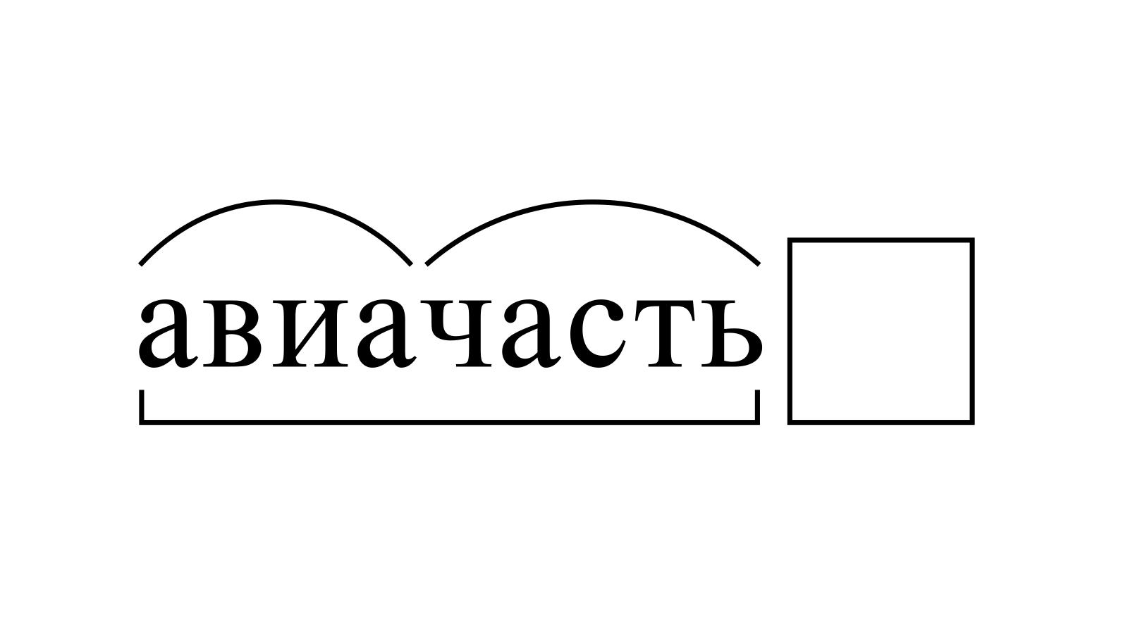 Разбор слова «авиачасть» по составу