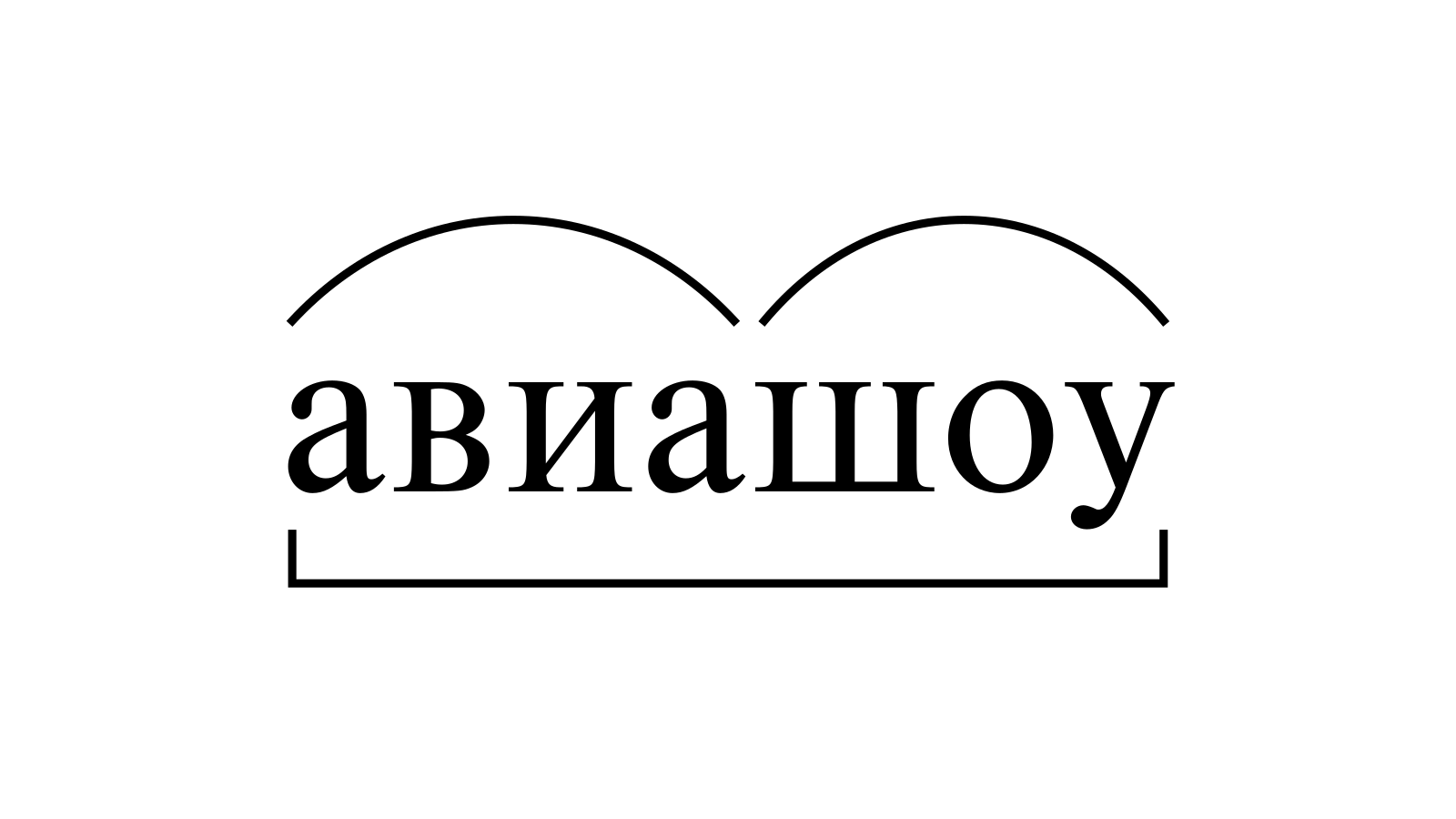 Разбор слова «авиашоу» по составу