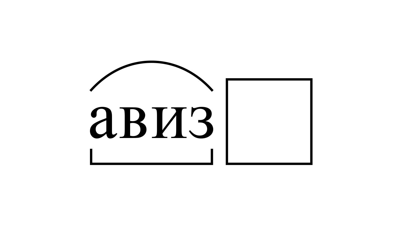 Разбор слова «авиз» по составу