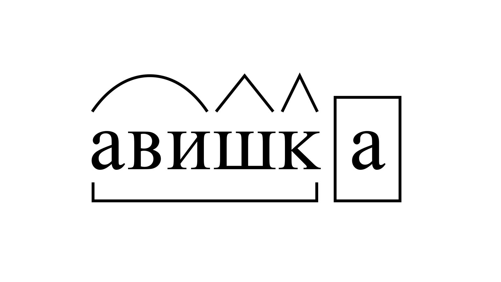 Разбор слова «авишка» по составу