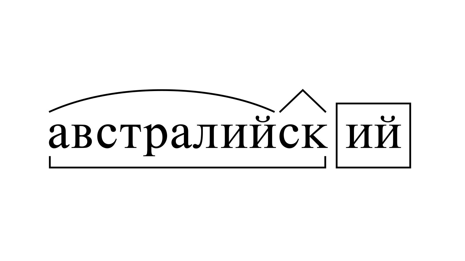 Разбор слова «австралийский» по составу