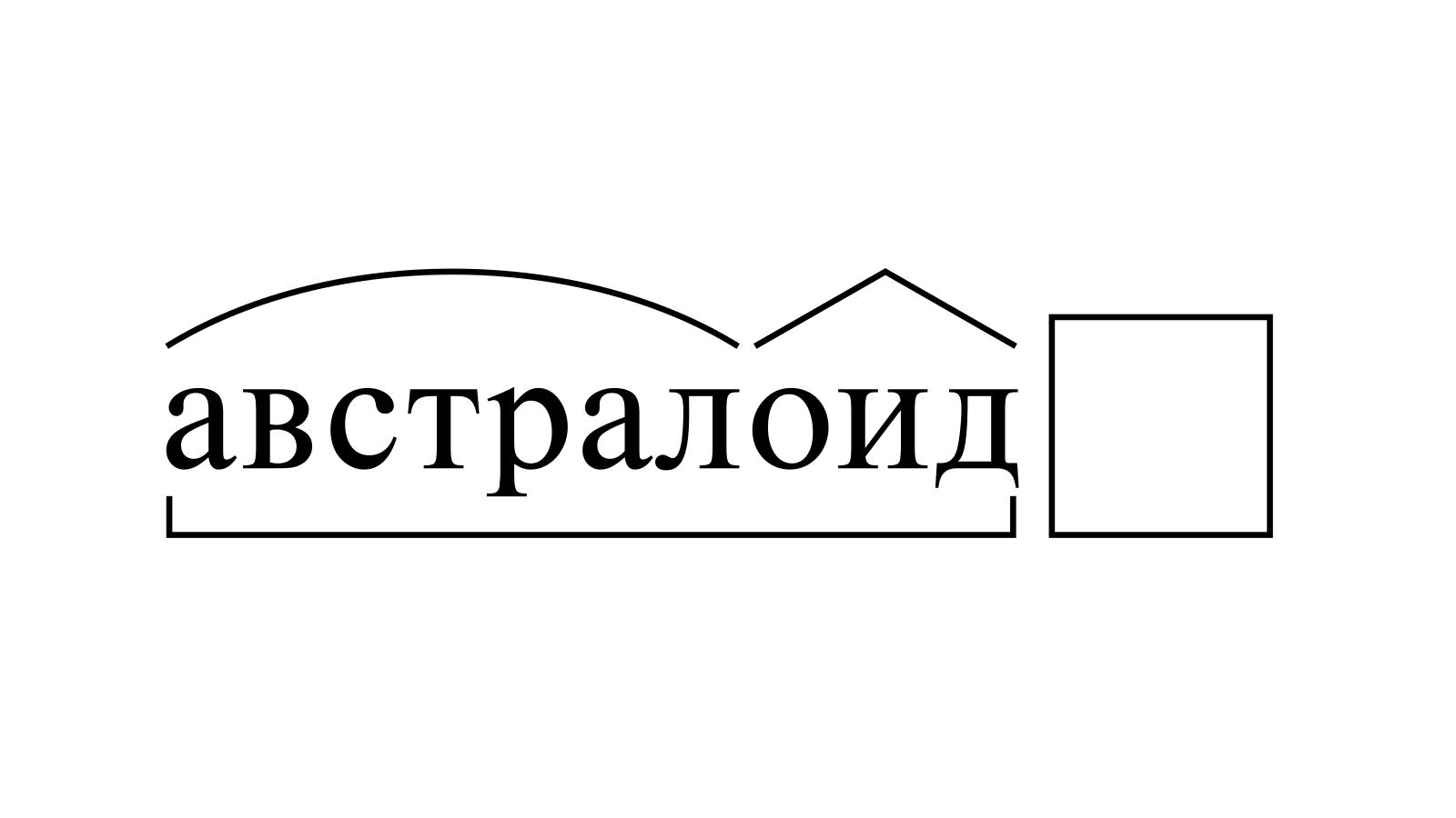 Разбор слова «австралоид» по составу