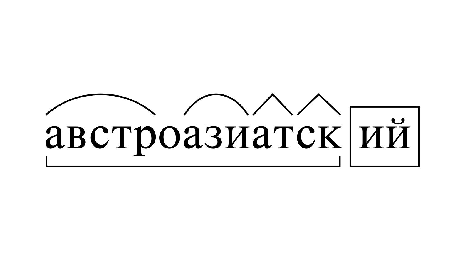 Разбор слова «австроазиатский» по составу