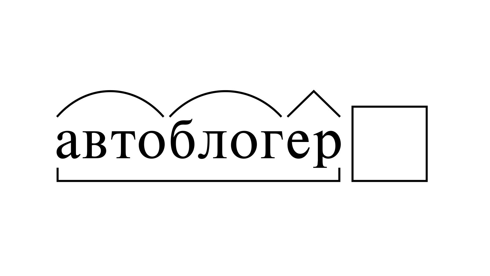 Разбор слова «автоблогер» по составу