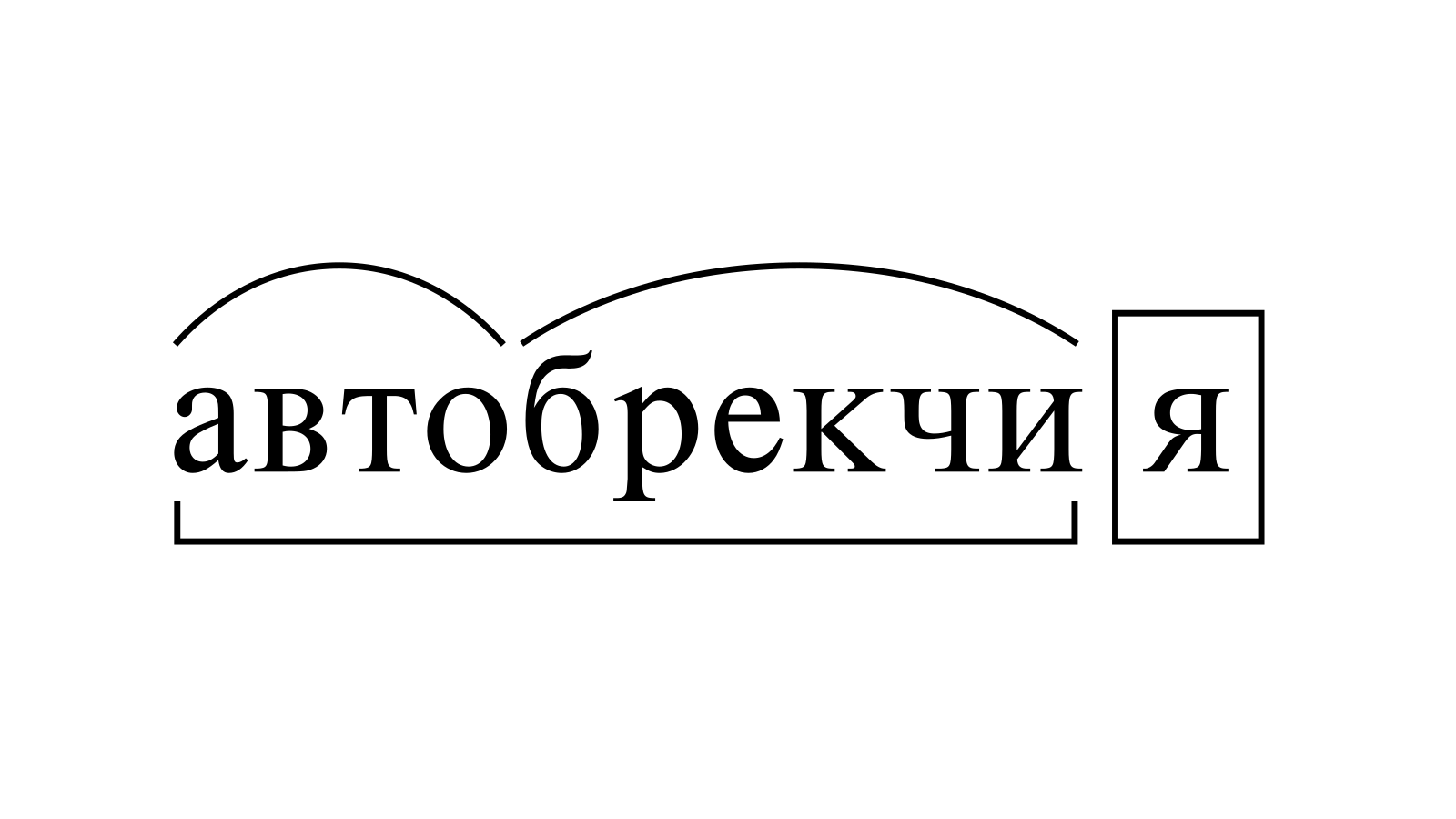 Разбор слова «автобрекчия» по составу