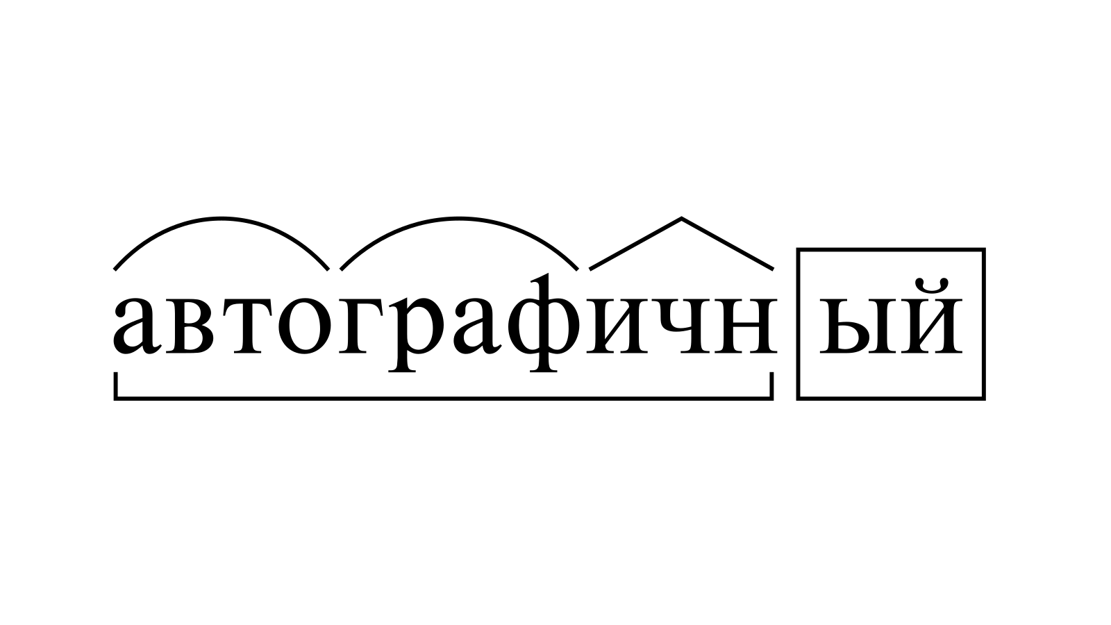 Разбор слова «автографичный» по составу