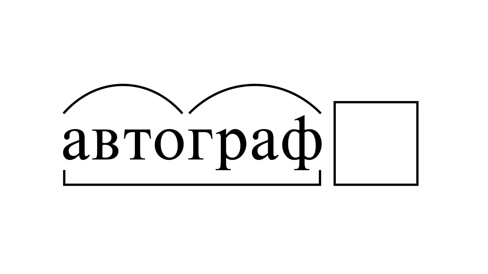 Разбор слова «автограф» по составу
