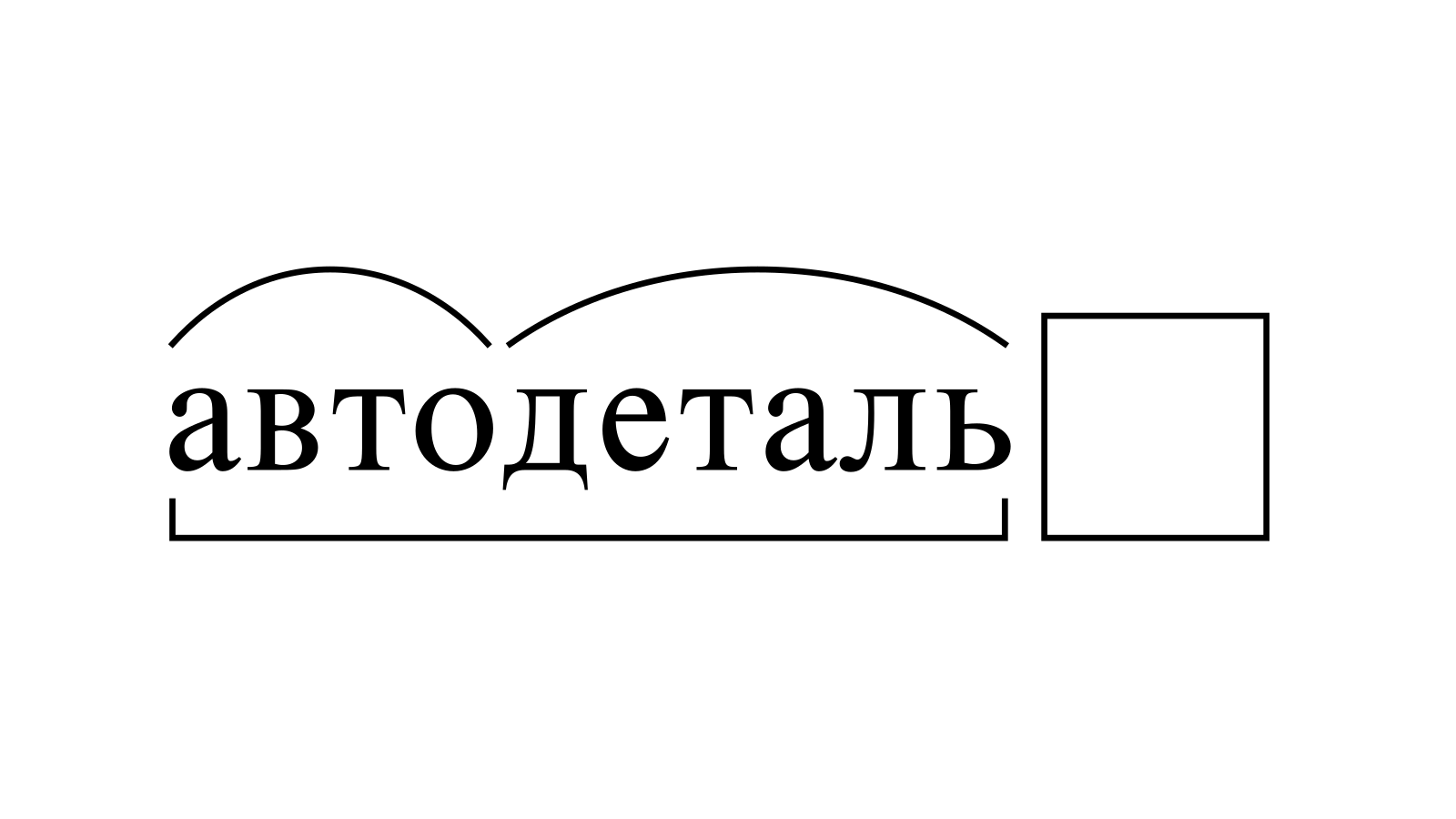 Разбор слова «автодеталь» по составу