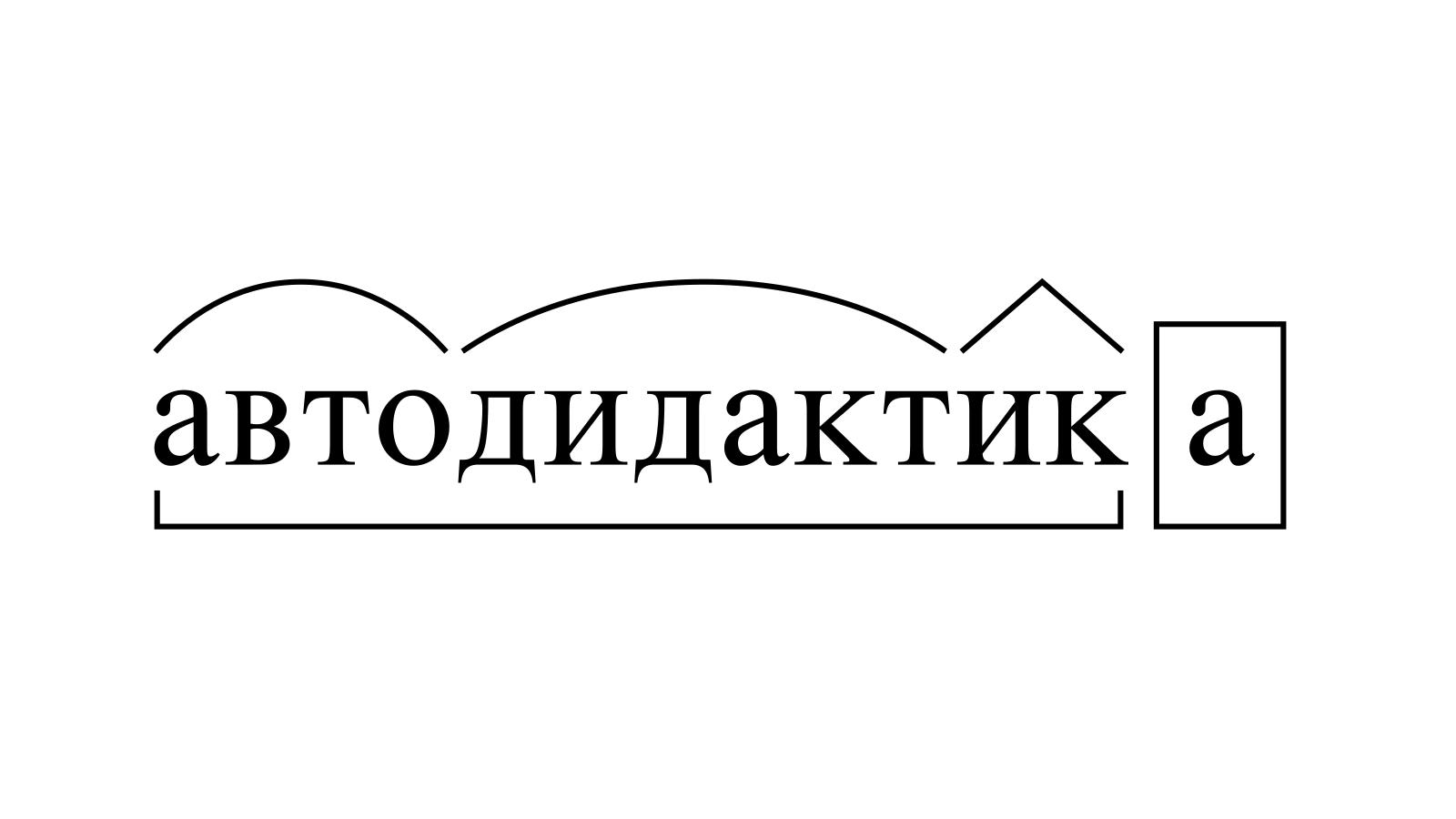 Разбор слова «автодидактика» по составу