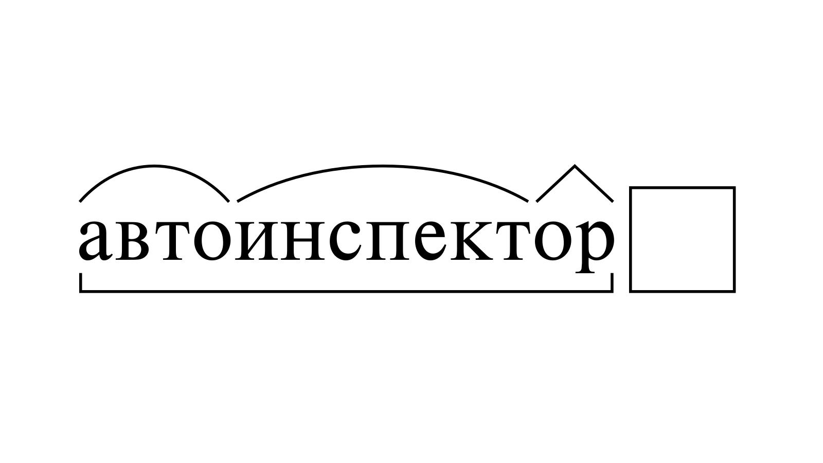 Разбор слова «автоинспектор» по составу