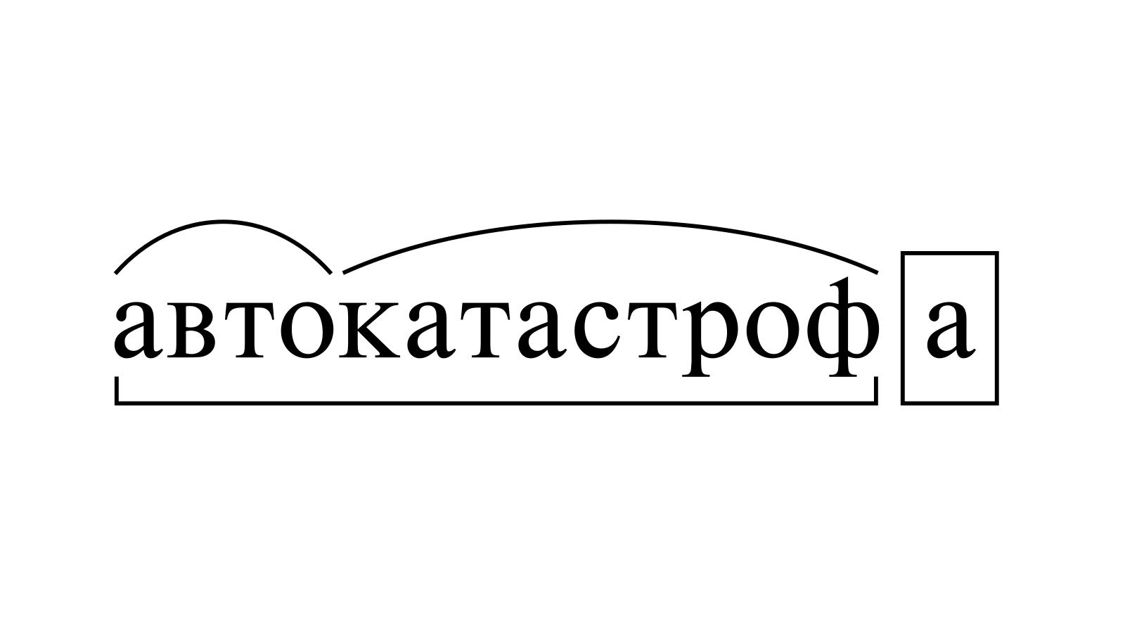 Разбор слова «автокатастрофа» по составу