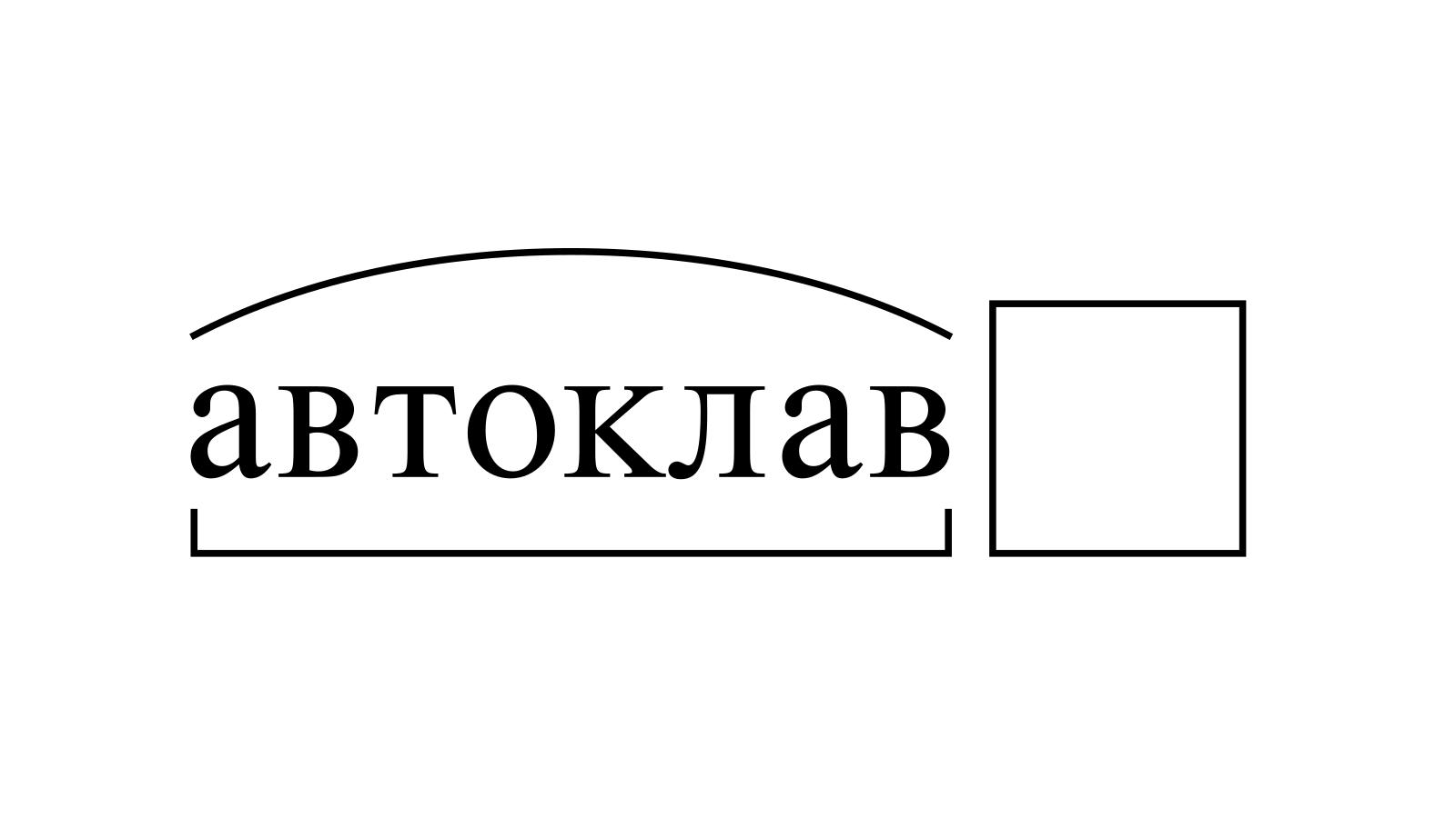 Разбор слова «автоклав» по составу