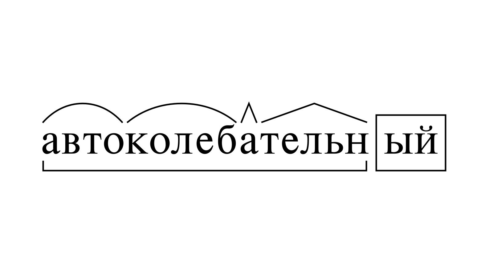 Разбор слова «автоколебательный» по составу