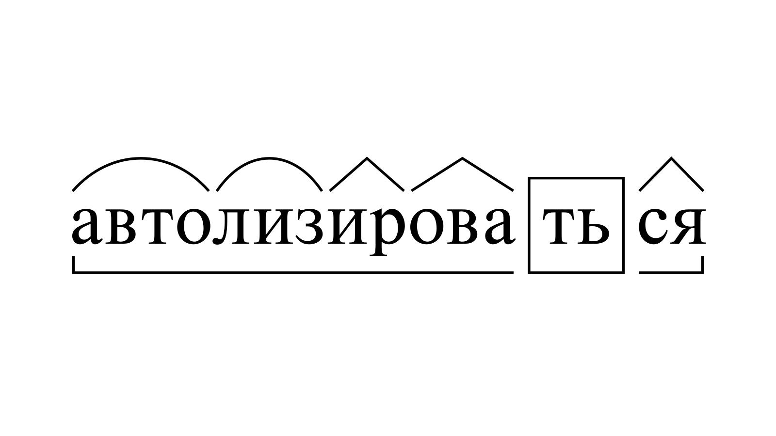Разбор слова «автолизироваться» по составу