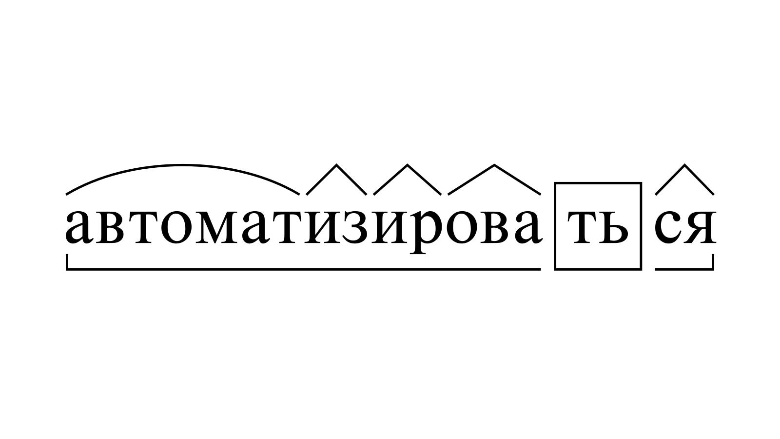 Разбор слова «автоматизироваться» по составу