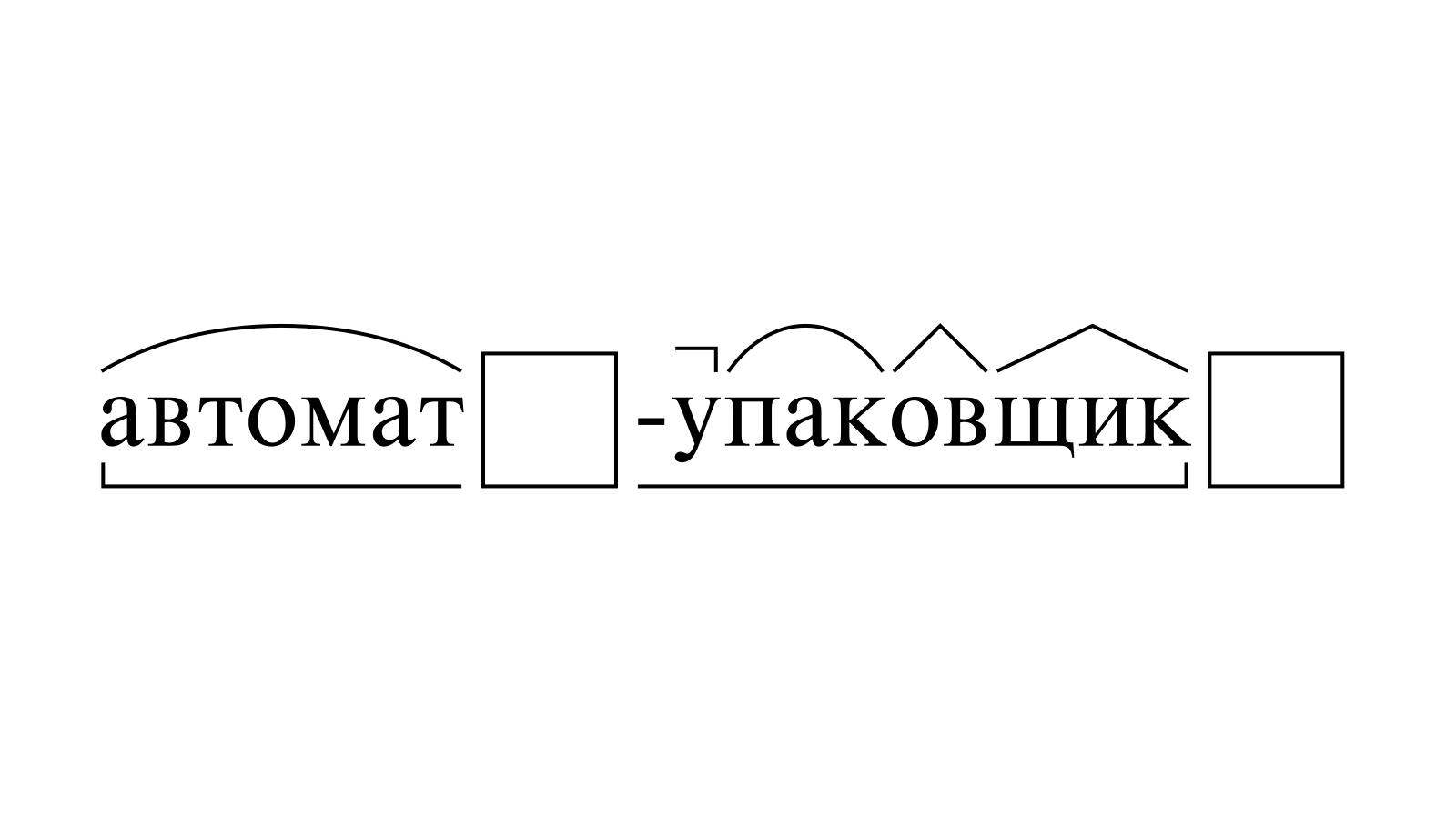Разбор слова «автомат-упаковщик» по составу