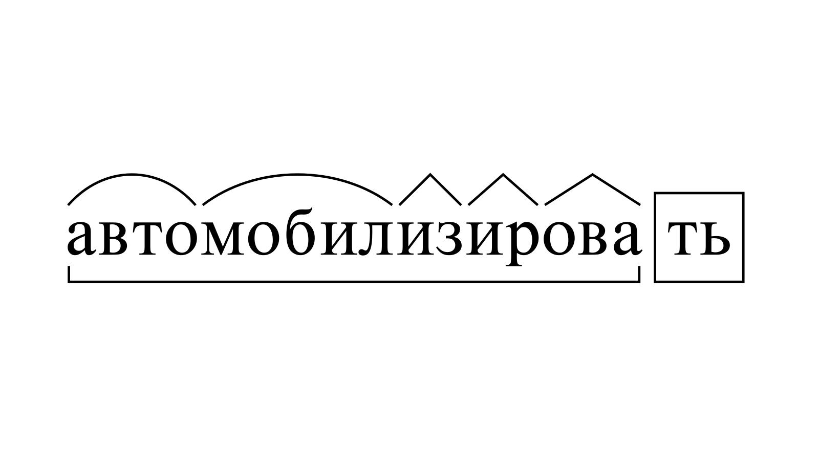 Разбор слова «автомобилизировать» по составу