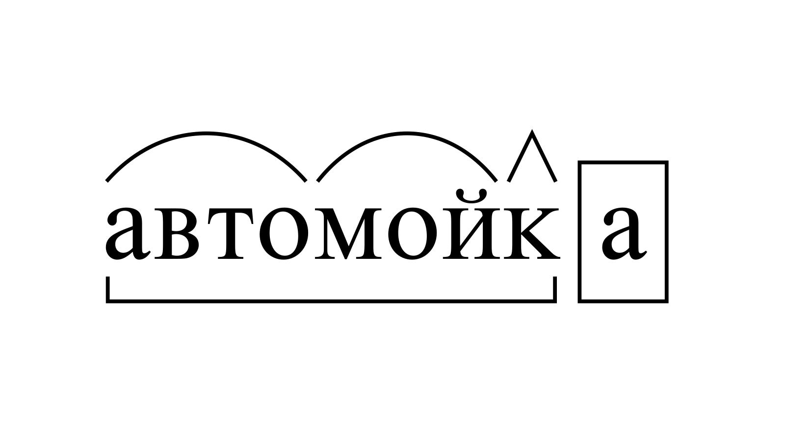 Разбор слова «автомойка» по составу