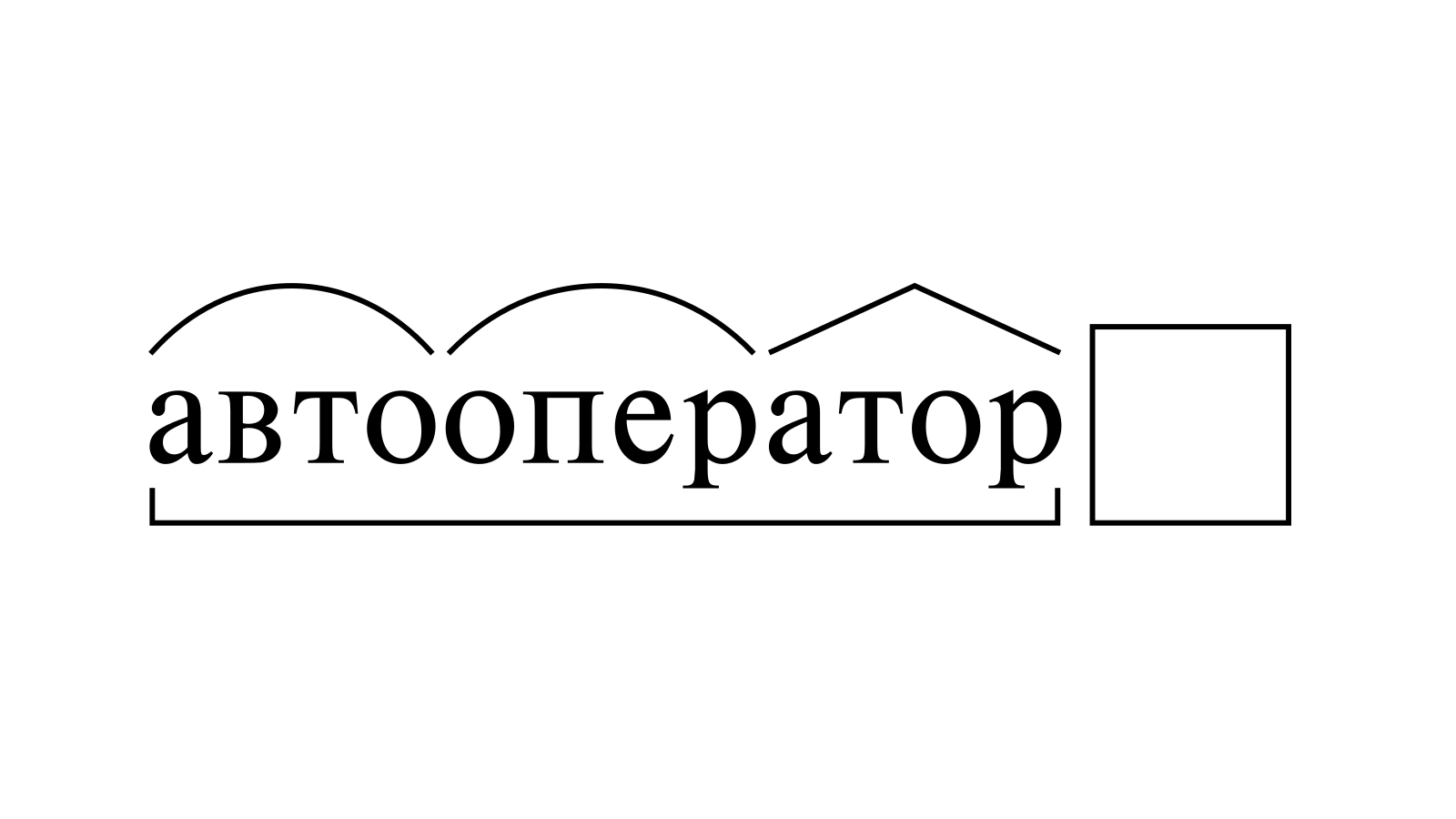 Разбор слова «автооператор» по составу