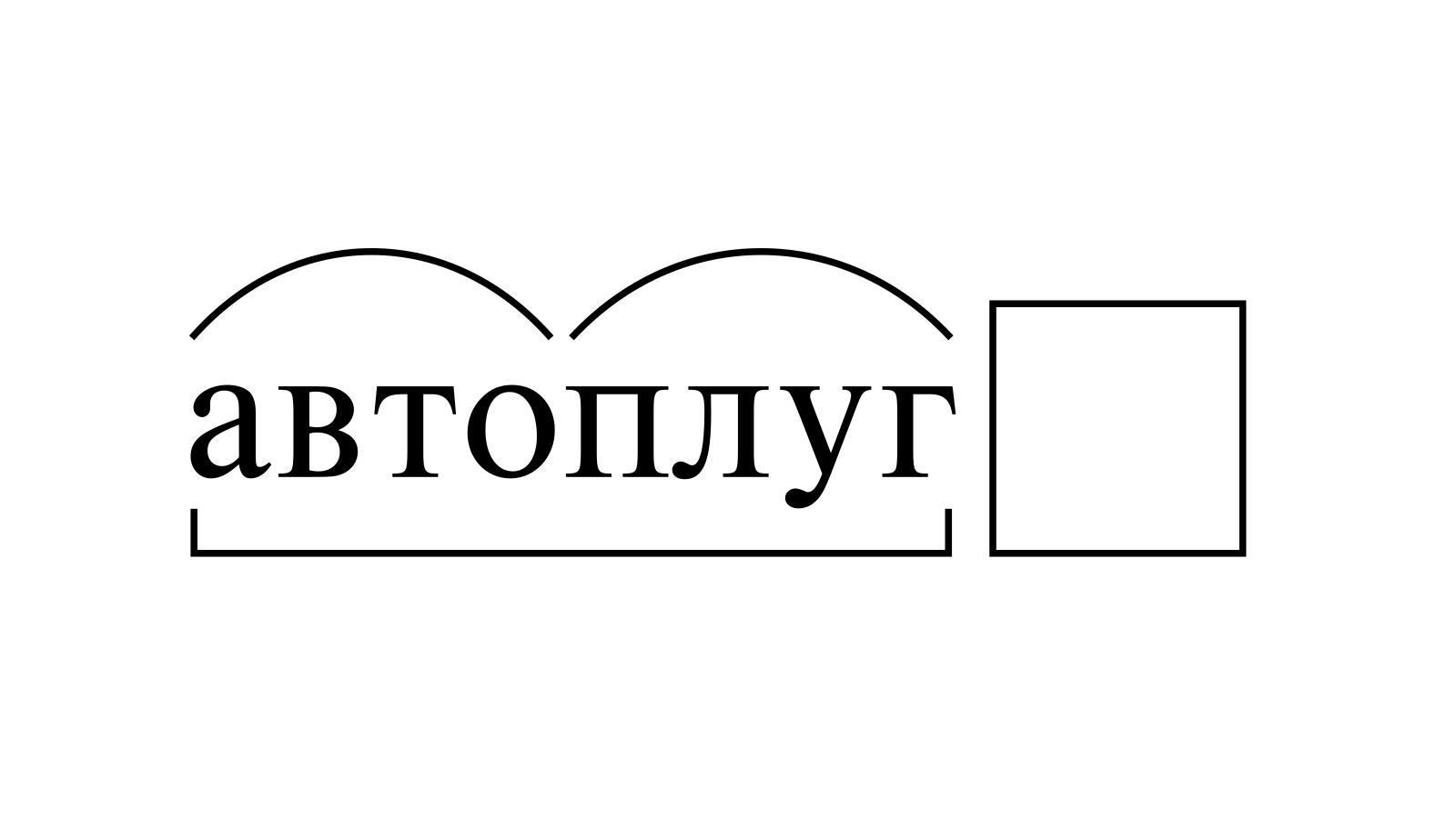 Разбор слова «автоплуг» по составу