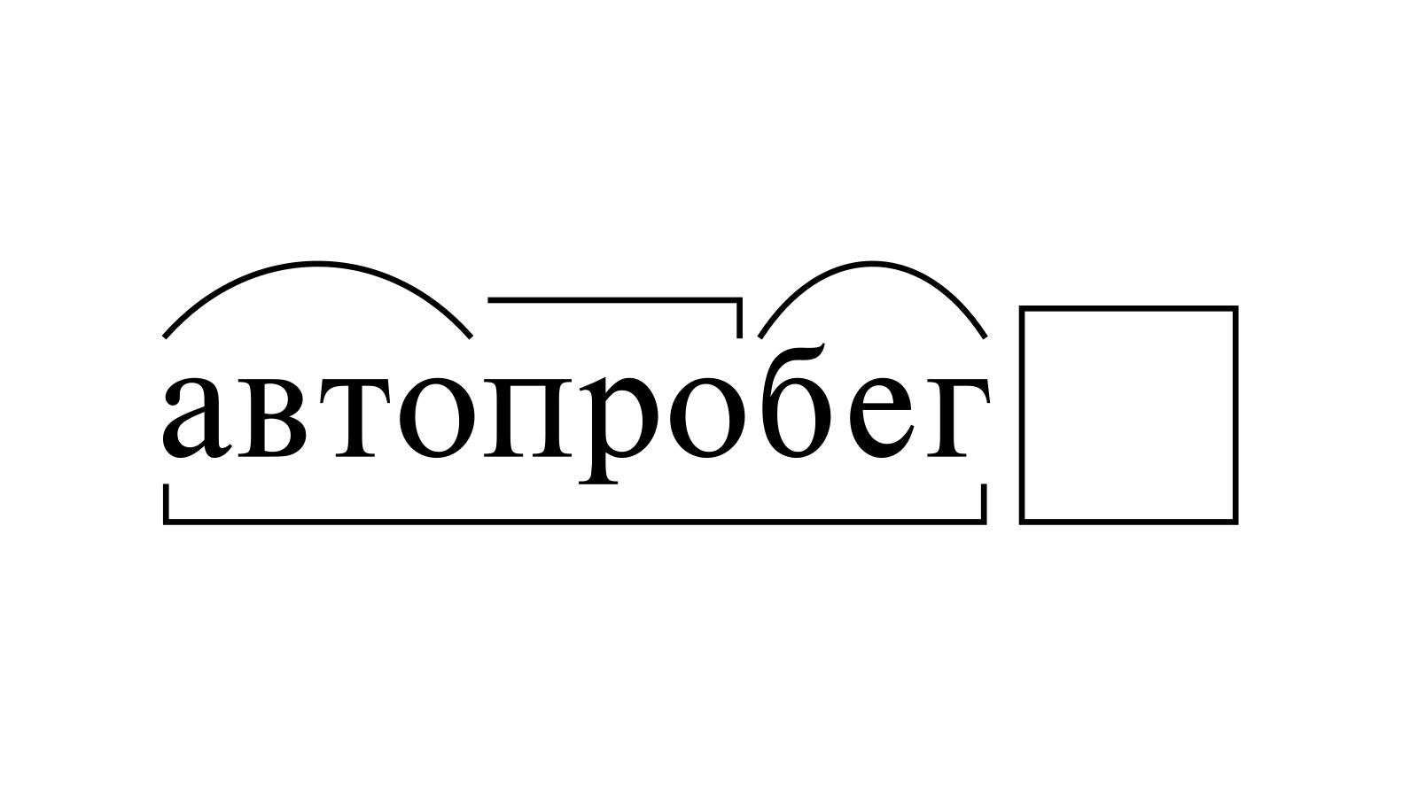 Разбор слова «автопробег» по составу