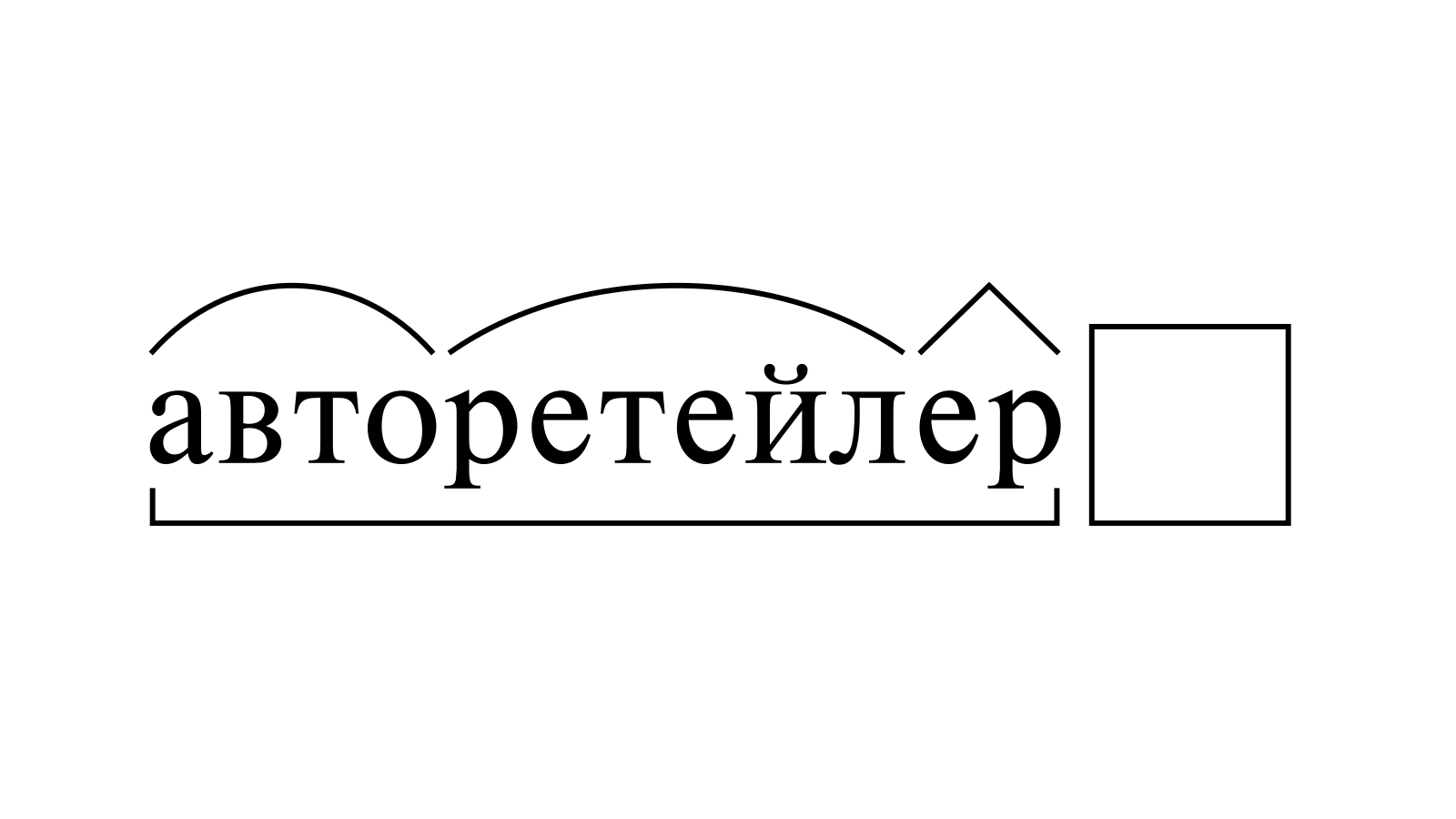 Разбор слова «авторетейлер» по составу