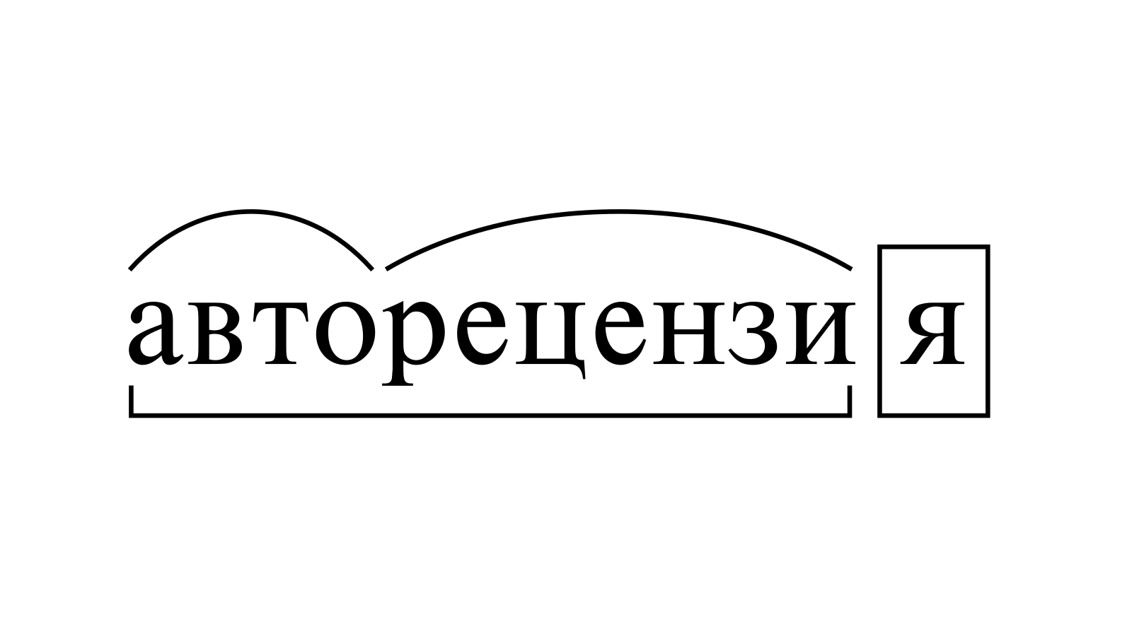 Разбор слова «авторецензия» по составу