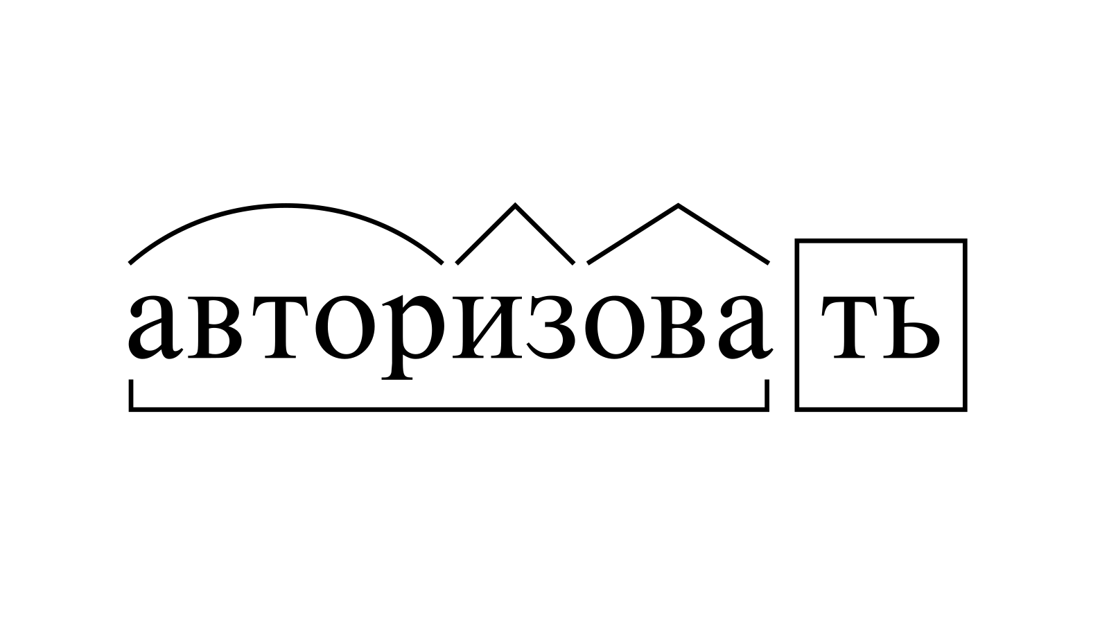 Разбор слова «авторизовать» по составу