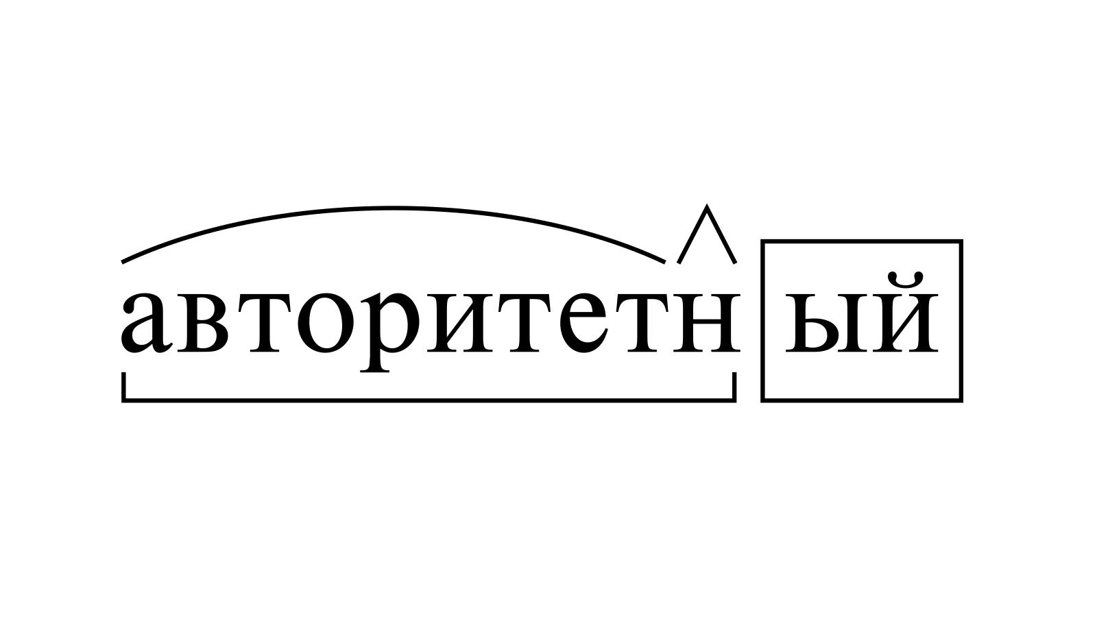 Разбор слова «авторитетный» по составу