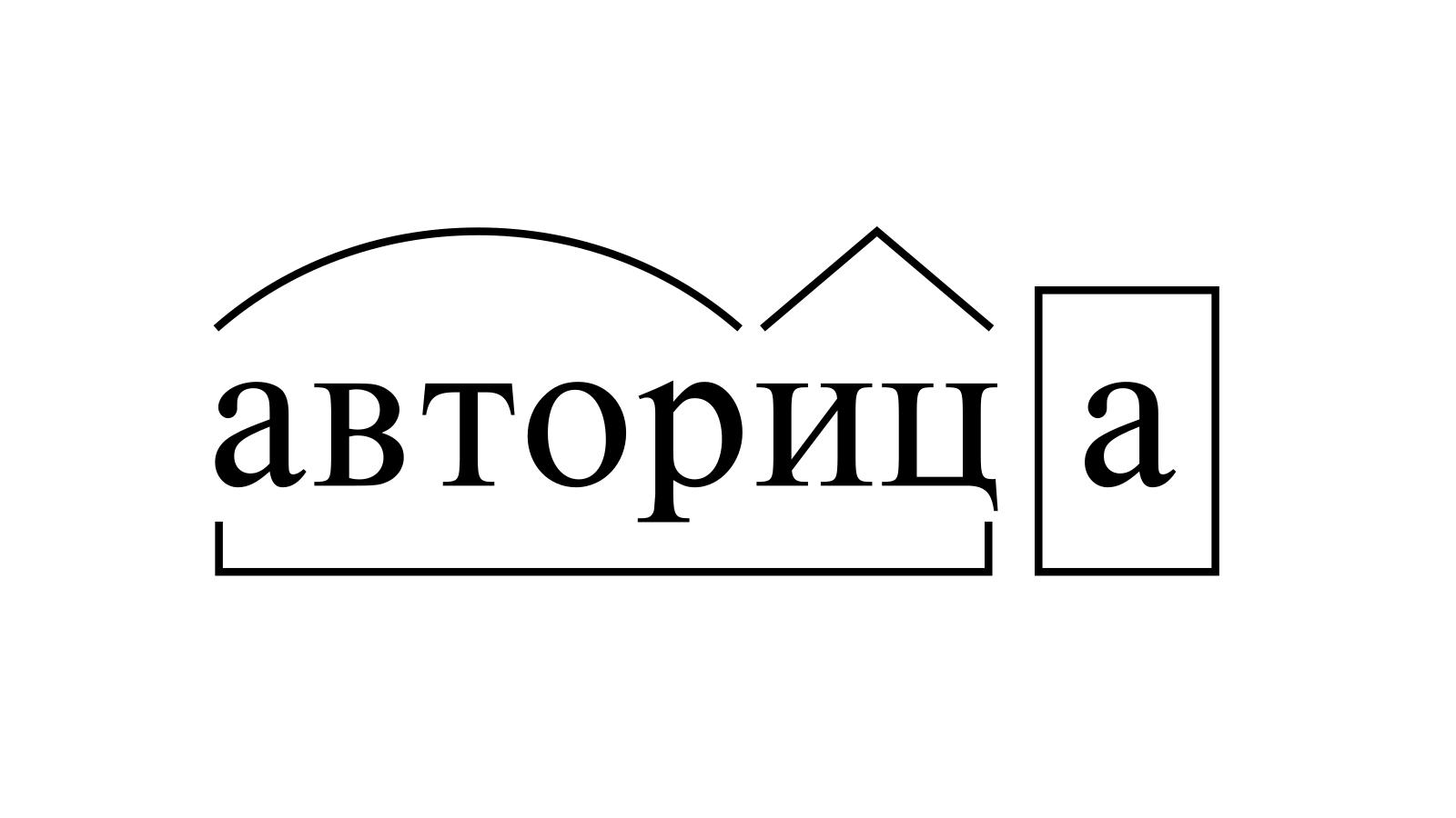 Разбор слова «авторица» по составу