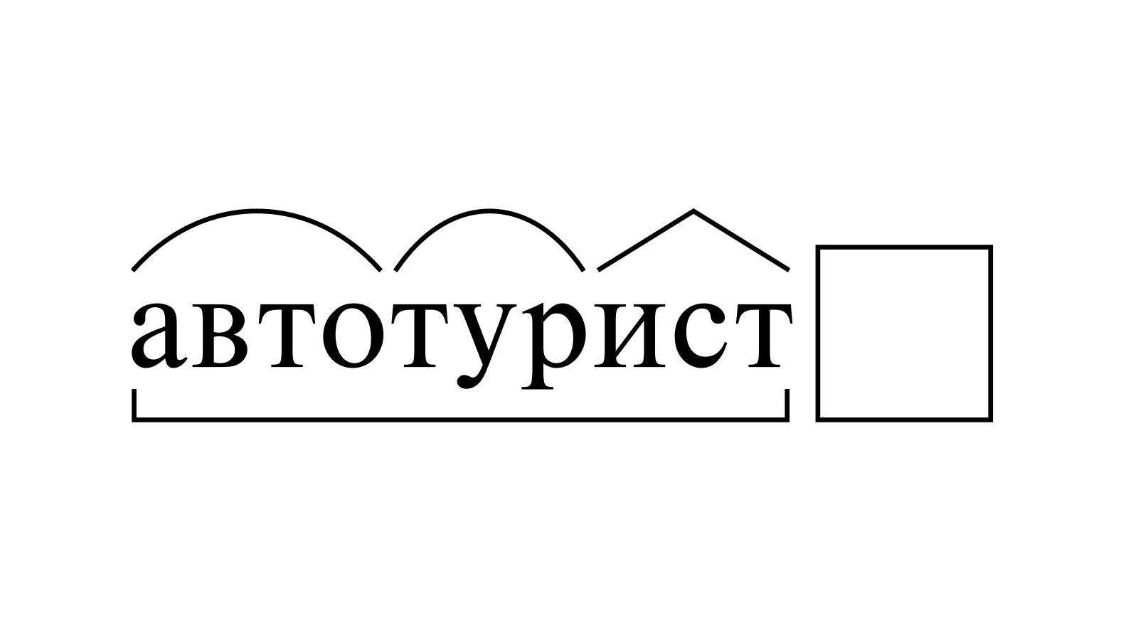 Разбор слова «автотурист» по составу