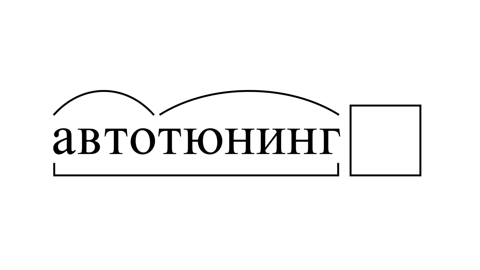 Разбор слова «автотюнинг» по составу