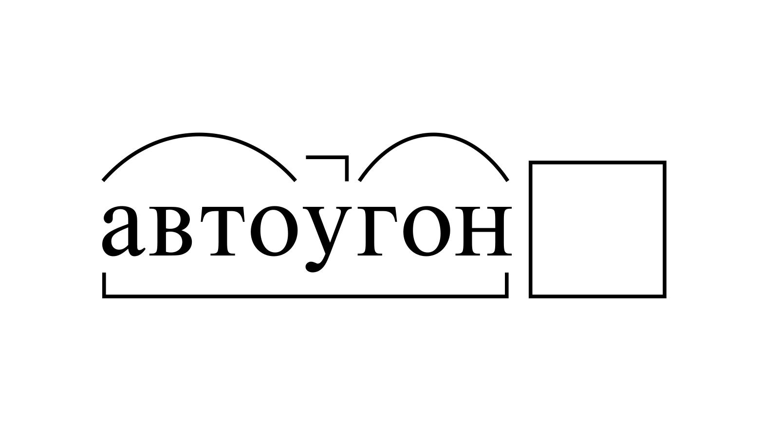 Разбор слова «автоугон» по составу