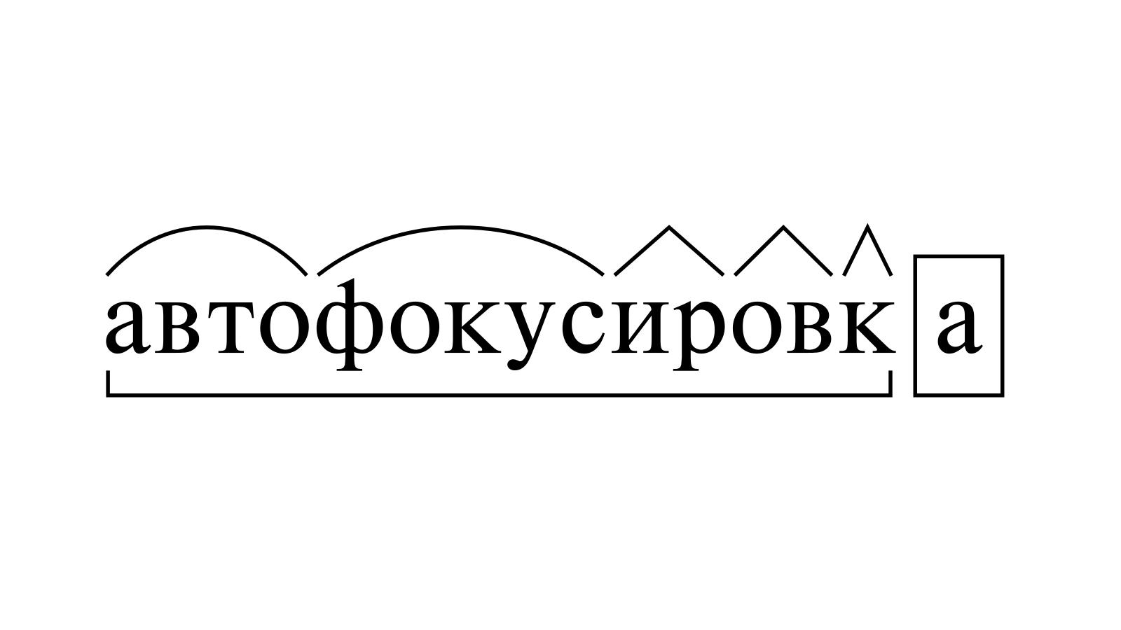Разбор слова «автофокусировка» по составу