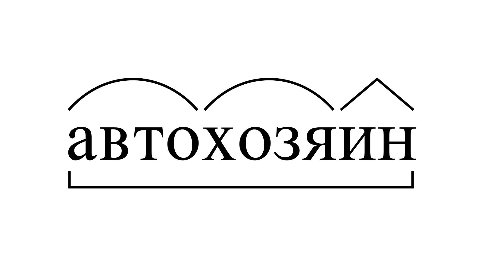 Разбор слова «автохозяин» по составу