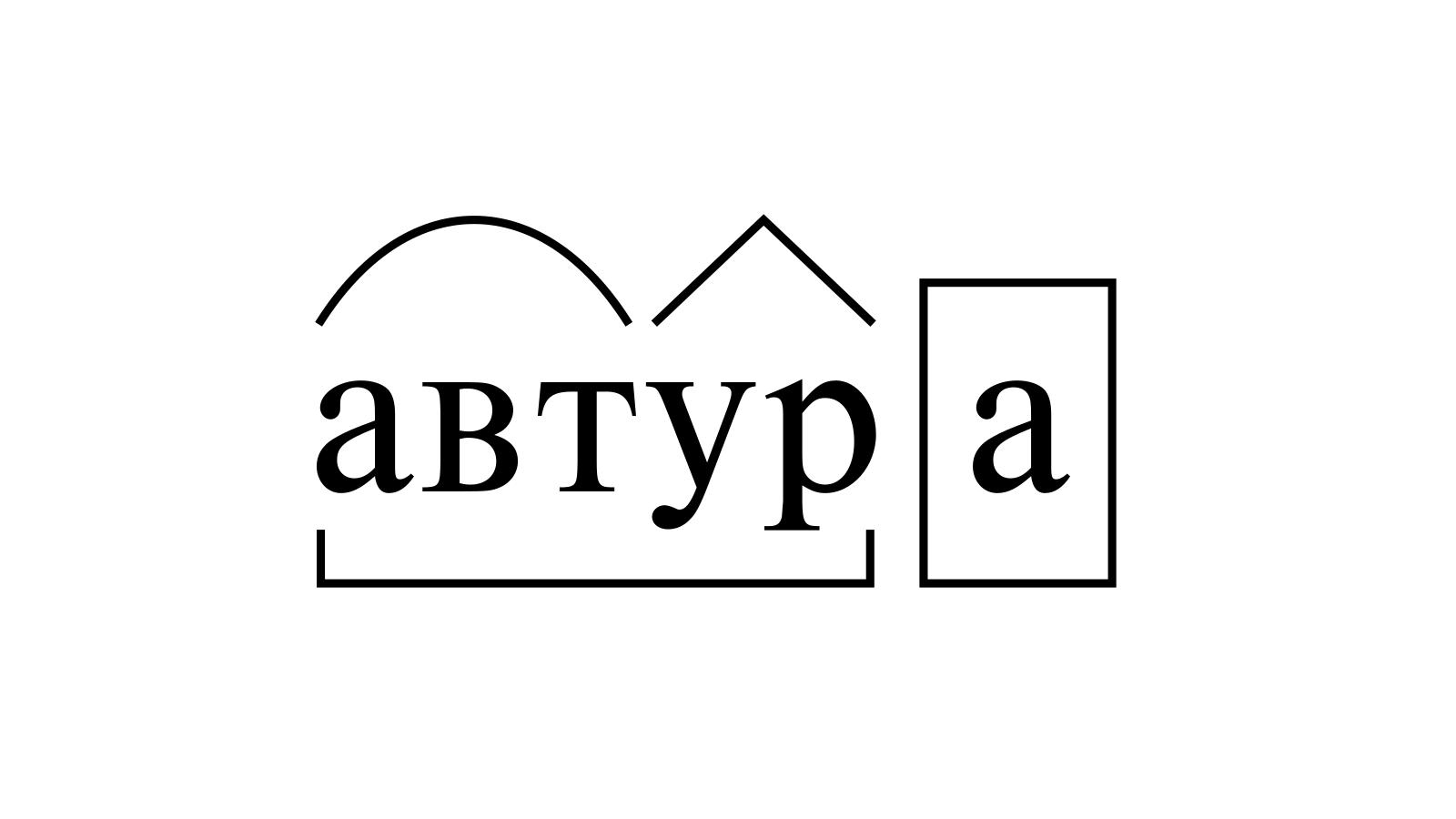 Разбор слова «автура» по составу
