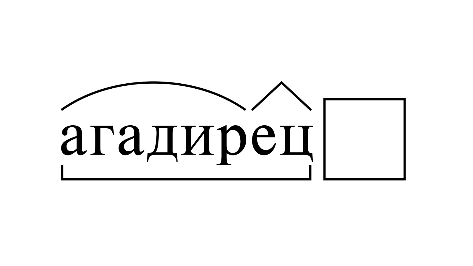 Разбор слова «агадирец» по составу