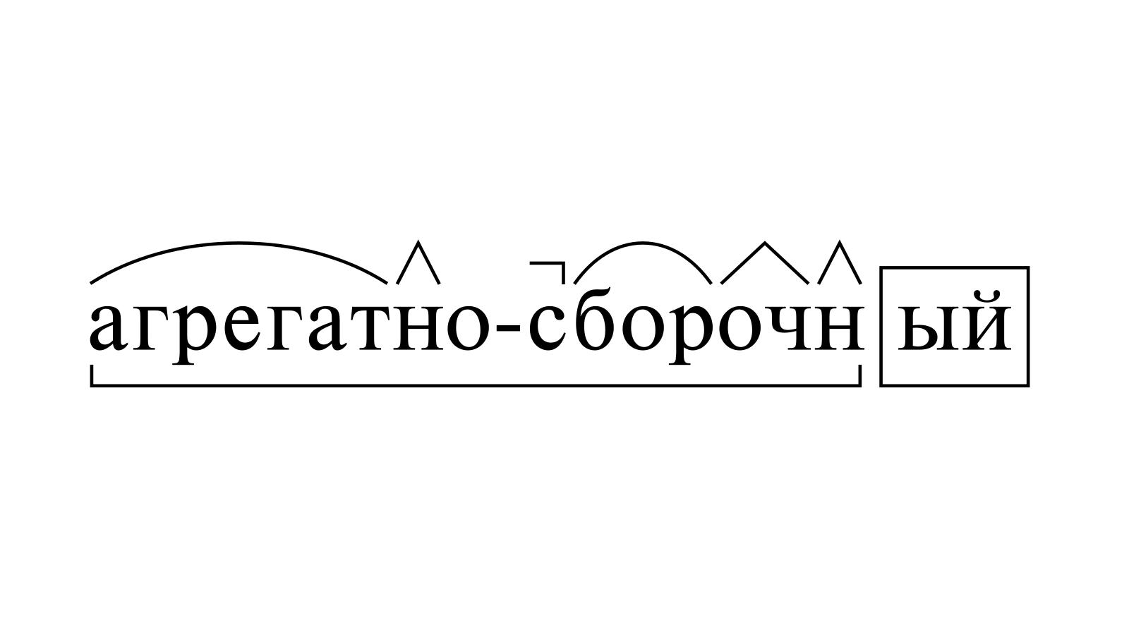 Разбор слова «агрегатно-сборочный» по составу